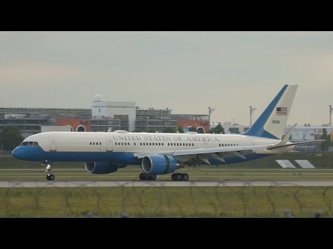 Boeing C-32A 757-200 United States of America arrival at Munich Airport Ankunft München Flughafen