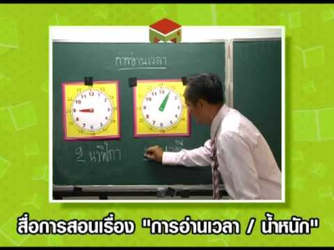 สื่อการสอน เรื่องเวลา/น้ำหนัก