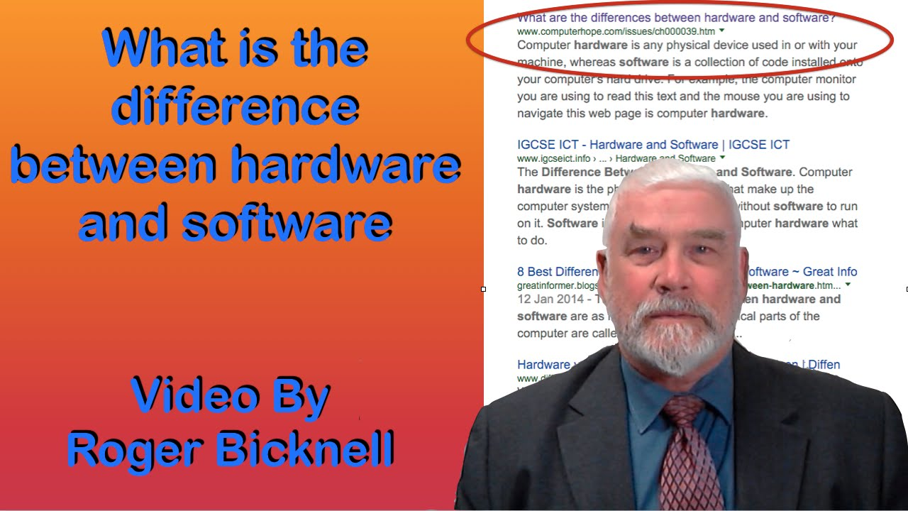 What is the difference between hardware and software? - YouTube