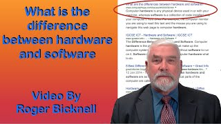 What is the difference between hardware and software?