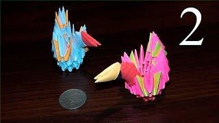 как сделать маленького мини лебедя из бумаги МОДУЛЬНОЕ ОРИГАМИ для начинающих