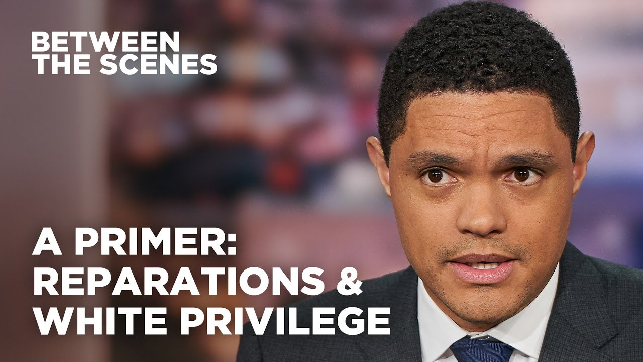 Trevor Noah Breaks Down Reparations & White Privilege To Ignorant white man