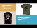 Top 12 Gundam Shirts // Best Graphic Tees Collection