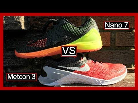 cc7b6b7175 Nike Metcon 3 VS Reebok Nano 7 (The Nano's Are On Sale!) - YouTube