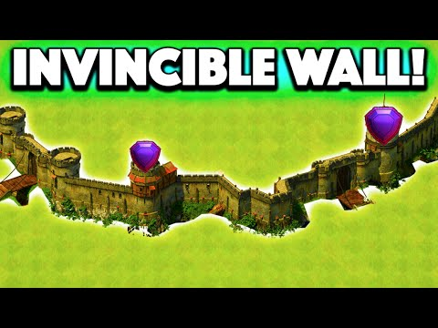 Clash of Clans - THE WALL! Defense That is IMPOSSIBLE to Break