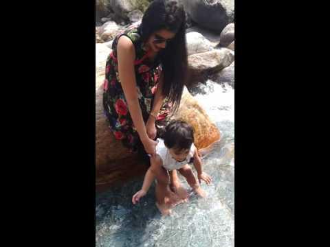 Amu Video 868715 - Playing in water.. Mcleodganj trip(1)