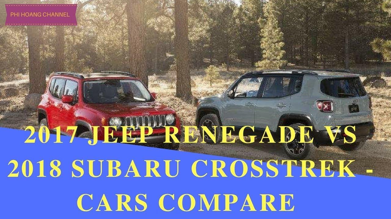 2017 Subaru Outback vs 2016 Jeep Cherokee - YouTube