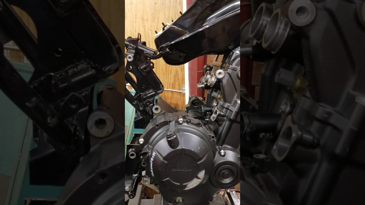 Honda grom cbr500r engine swap - YouTube