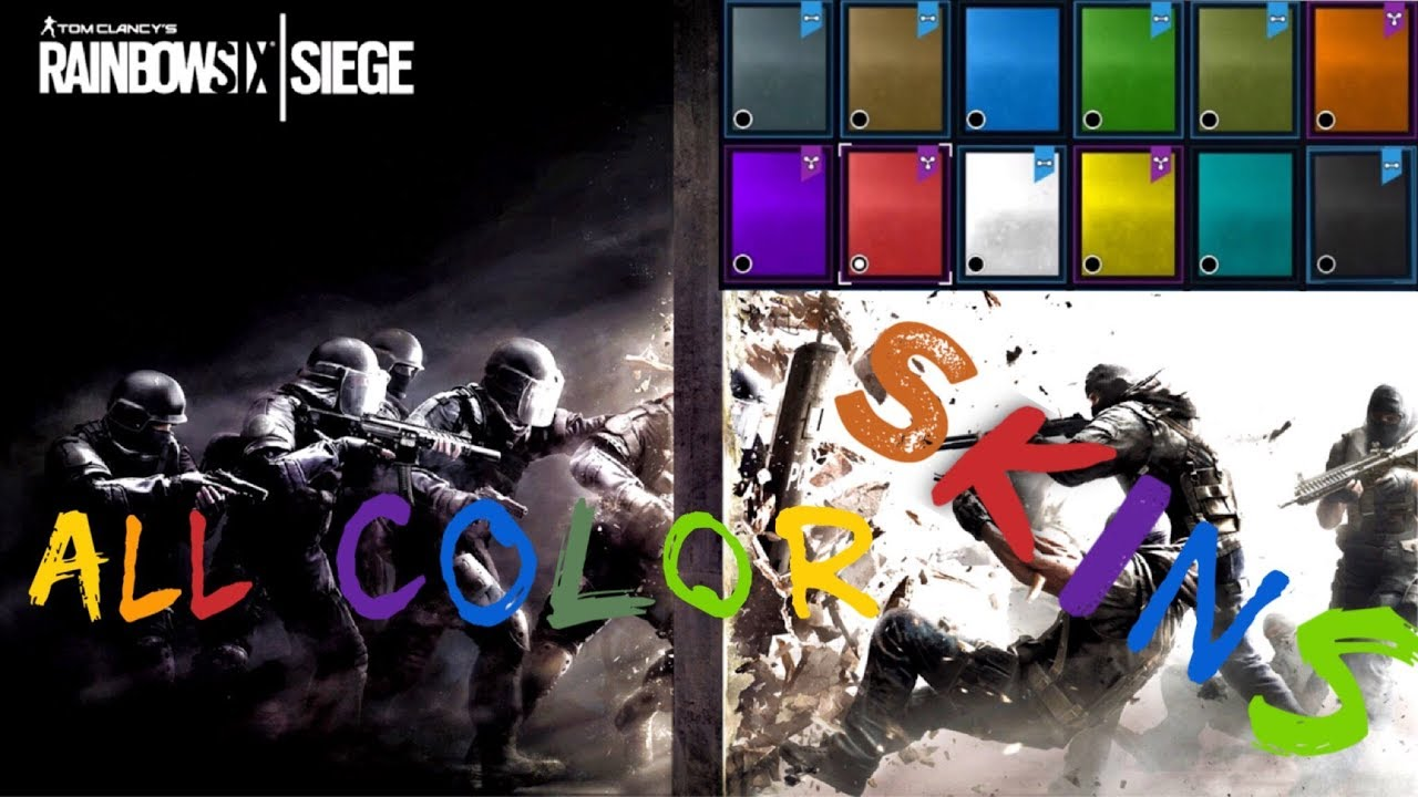 presentation all colors weapon skins rainbow six siege color