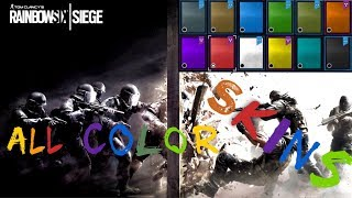 Presentation - ALL COLORS WEAPON SKINS - Rainbow Six Siege - Color-Party by StuntmAEn Bob