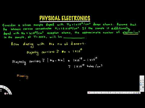 Mass Action Law, semiconductor doped with both donors and acceptors - Physical Electronics