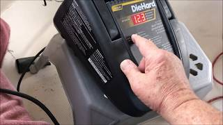 Diehard Gold Battery Charger and Engine Starter - Not Charging - March 2019