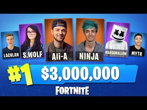 Playing in the WORLD'S BIGGEST Fortnite Tournament! w AliA, Ninja, Lachlan, Myth  MORE