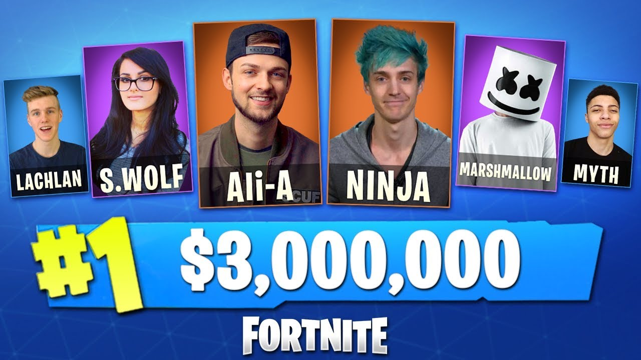 Ali A Fortnite playing in the world's biggest fortnite tournament! (w/ ali-a, ninja,  lachlan, myth + more)