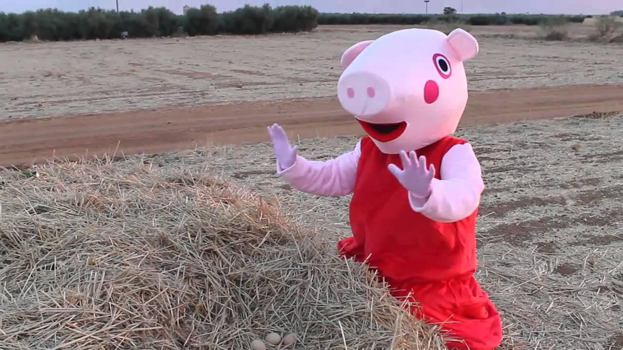 Peppa Pig juegos en el jardin english-español. Peppa la cerdita tiene una  sorpresa para vosotros!!