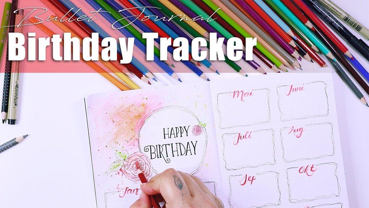 Geburtstagsliste birthday tracker | bullet journal set up | geburtstag tracker