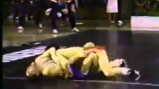Sergey Karamchakov (Khakasia) vs Rich Salamone (USA), Seoul 1988. Free style wrestling.
