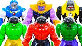 LEGO HULK Smash Collection Toys Get Up Early Exercise~! Thanos And His Comrades Appear #ToysPlayTime