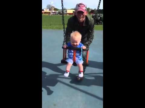 8 Month Old Baby First Time On A Swing