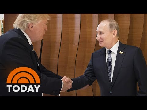 President Donald Trump's First Handshake With Vladimir Putin | TODAY