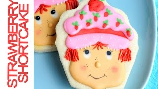 Decorated Strawberry Shortcake Cookies, Decorting With Royal Icing