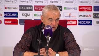Rıza Çalımbay ve Stjepan Tomas maç sonu basın toplantıları