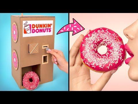 Торговый Автомат Для Подачи Пончиков из Картона Своими Руками
