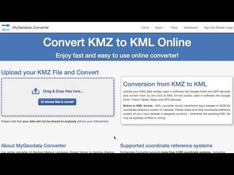 How to convert KMZ to KML