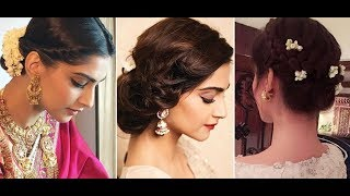 Beautiful Bun Hairstyle Ideas Inspired By Sonam Kapoor || Hairstyle Ideas For Wedding