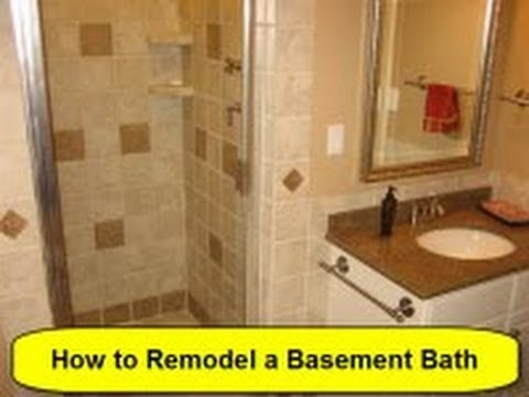 how to remodel a basement bath part 1 of 3. Black Bedroom Furniture Sets. Home Design Ideas