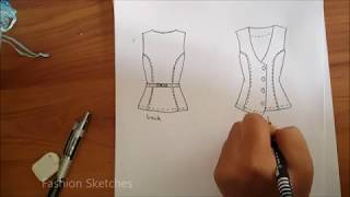 How to draw fashion flats by hand Easy for beginners