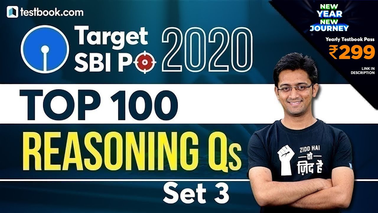 SBI PO 2020 | Top 100 Reasoning Questions for SBI PO Prelims | Part 3 | Expected Questions