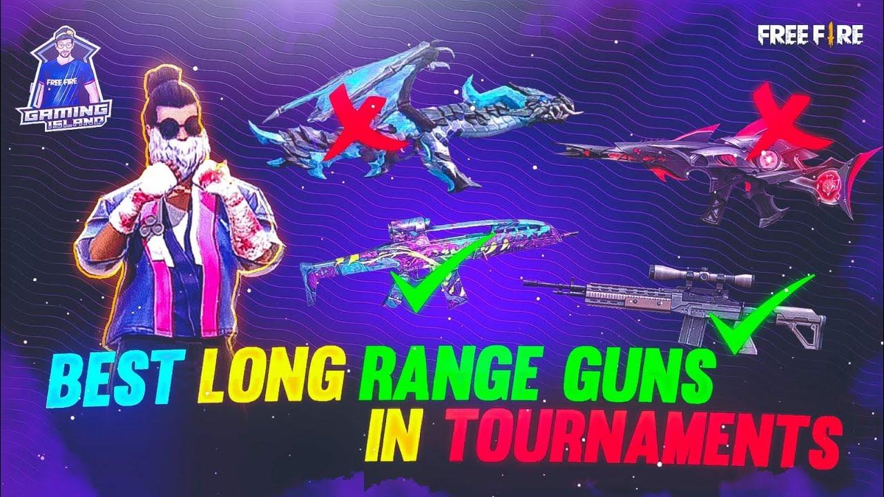 BEST LONG RANGE GUN IN FREEFIRE | BEST LONG RANGE GUN FOR TOURNAMENT | TOP 5 BEST LONG RANGE GUNS |