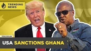 Ghana News Today: Mahama Criticized Over 'Boot for Boot' Statement / USA Sanctions Ghana  #Yencomgh