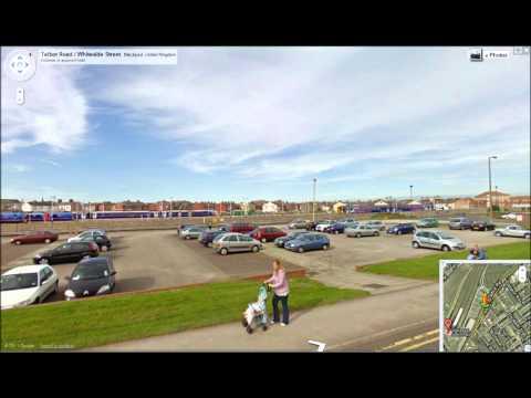 trains on google street view