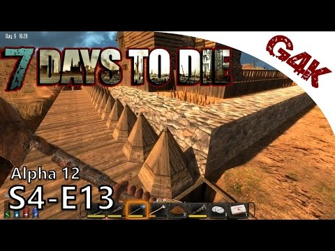 Defensive Wall #1 | 7 Days To Die Alpha 12 Gameplay | S04-E13