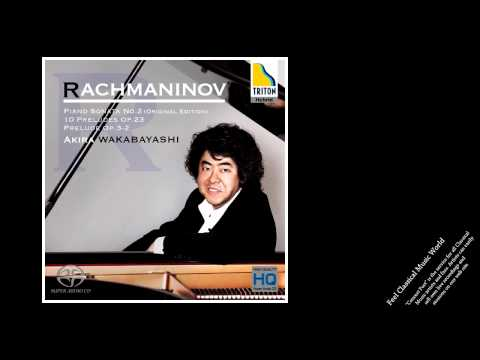 Wakabayashi plays Rachmaninov: Piano Sonata No.2