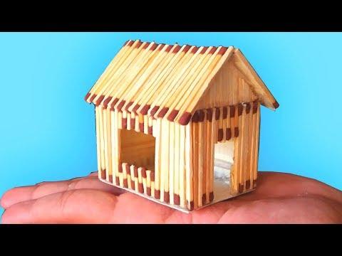 Как из спичек сделать домик для начинающих