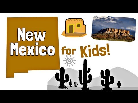 New Mexico for Kids | US States Learning Video