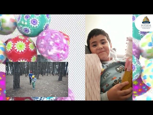 Los niños del equipo de Pumahue Peñalolén saludan en Pascua