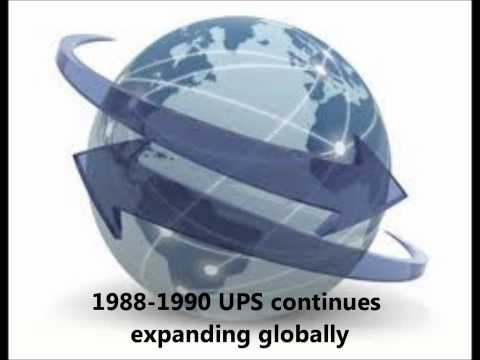 UPS History with music