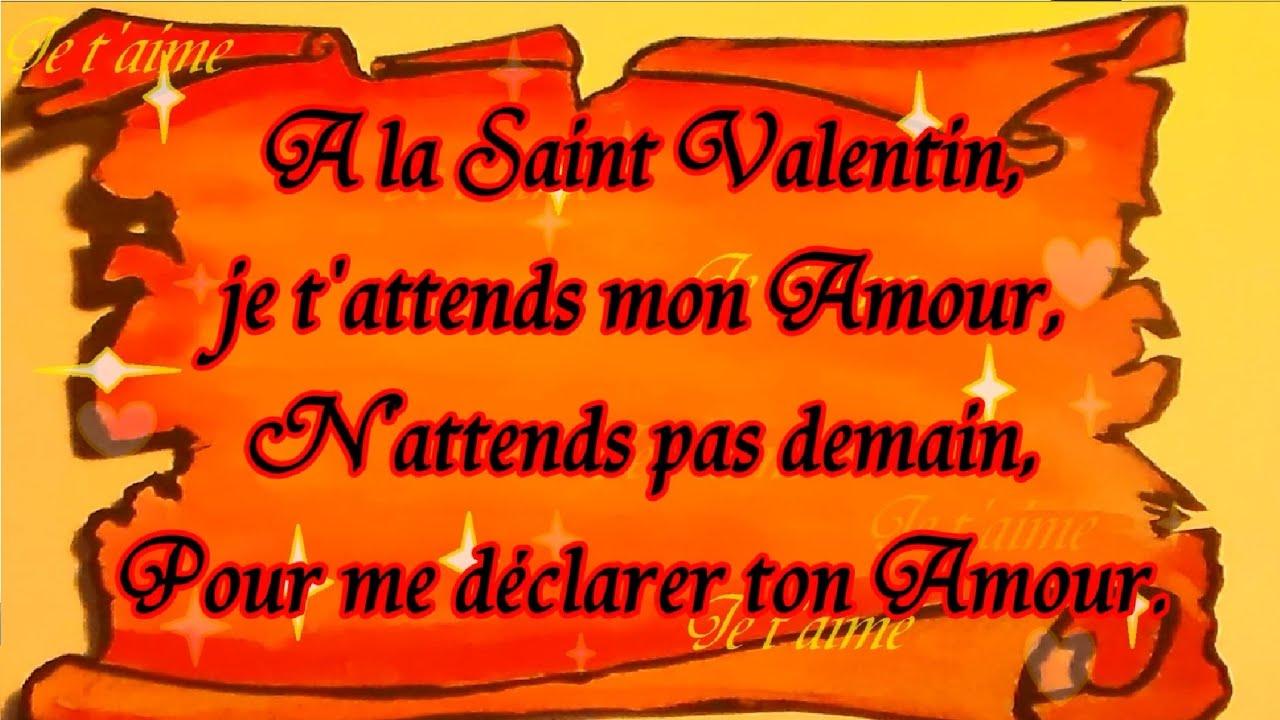 Poème De La Saint Valentin Déclare Ton Amour à Offrir