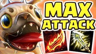 NEW MAX ATTACK SPEED PUG'MAW JUNGLE | DESTROY YOUR ENEMIES IN STYLE!! CUTEST SKIN EVER - Nightblue3