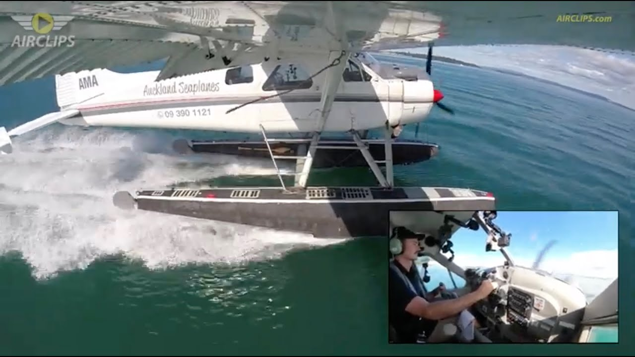 61-year old DHC-2 Beaver  performing STUNNING Splash-n-Go: Auckland Seaplanes [AirClips]