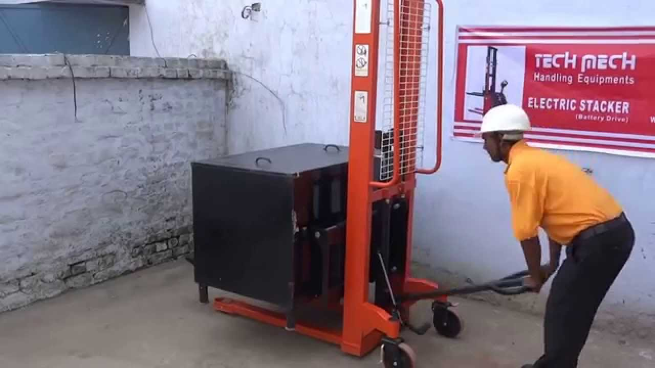 Live Demo Of Jet Hydraulic Hand Manual Lifting Stacker