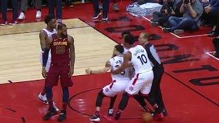 LeBron James Shoves Fred Van Vleet   Cavaliers vs Raptors - Game 1   May 1, 2018   2018 NBA Playoffs