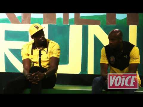 Jamaican Olympic Association final pre Games press conference - Bolt and Powell