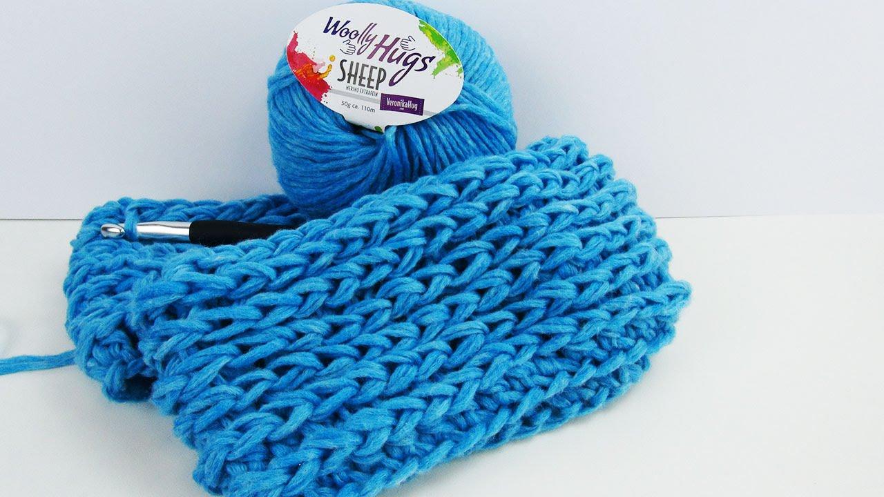 Doppel Loop für den Frühling häkeln   schöner lockerer Schal in ...