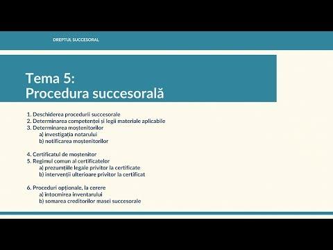 Procedura succesorală notarială