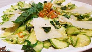 468 - Carpaccio di zucchine..frangranze genuine! (antipasto  estivo vegetariano con verdura cruda)